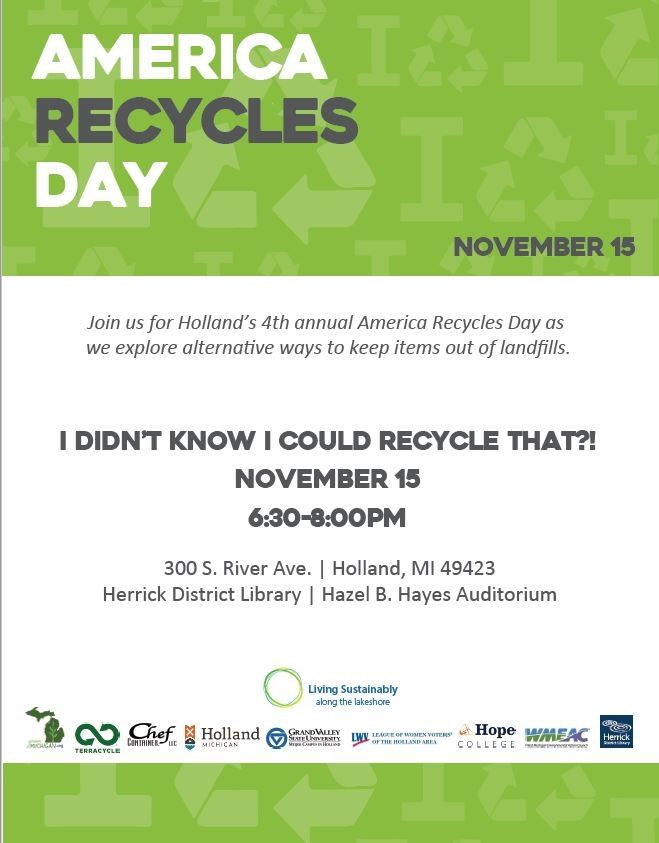 America Recycles Day 2016 flyer